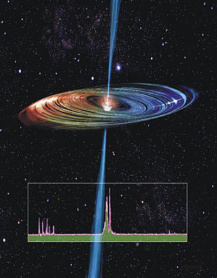 Accretion Disk And Radio Jet Poster by Science Source