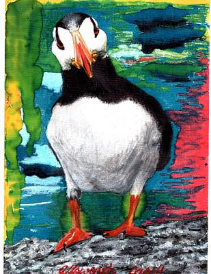 Ace   Puffin Huff Poster by Cassy Allsworth