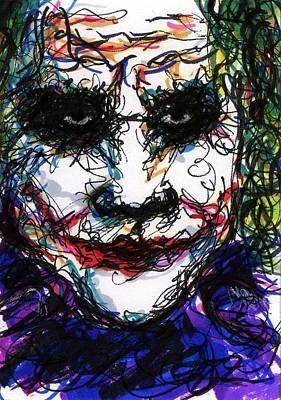 Aceo Joker Iv Poster by Rachel Scott