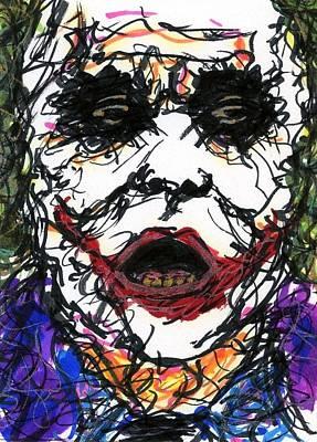 Aceo Joker Vi Poster by Rachel Scott