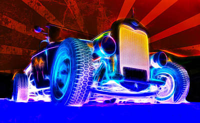 Acid Ford Hot Rod Poster by Phil 'motography' Clark
