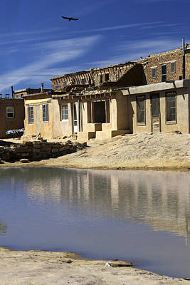 Acoma Pueblo Adobe Homes 2 Poster by Mike McGlothlen