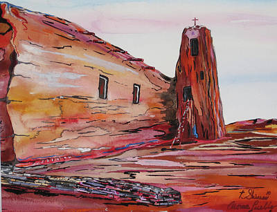 Acoma Pueblo Church Poster by Tom Shinas