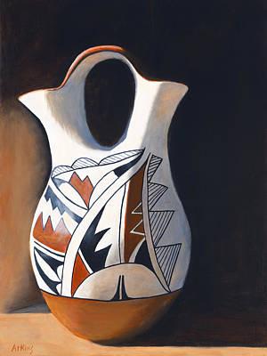 Acoma Wedding Vase Poster