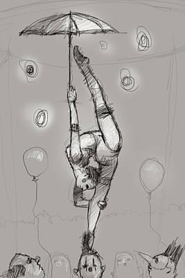 Acrobat On Clowns Poster