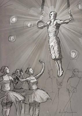 Acrobat With Ballerinas Poster