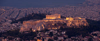 Acropolis Of Athens, Athens, Attica Poster by Panoramic Images