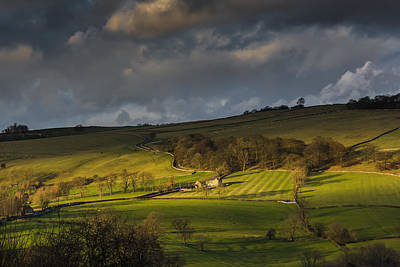 Across Dovedale At Sunset Poster by Chris Fletcher