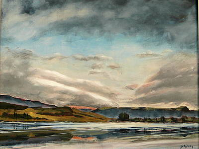 Poster featuring the painting Across The Loch by Jo Appleby