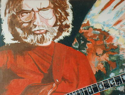 Poster featuring the painting Acrylic Jerry by Stuart Engel