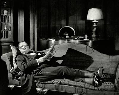 Actor Alexander Woollcott On A Couch Poster by Nick Lazarnick