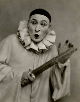 Actor Lionel Atwill In A Pierrot Costume Poster by Nicholas Muray