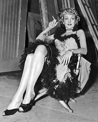 Actress Marlene Dietrich Poster