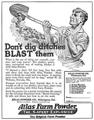 Ad Atlas Farm Powder Poster