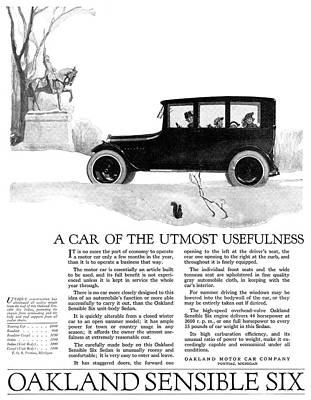 Ad Automobile, 1918 Poster by Granger