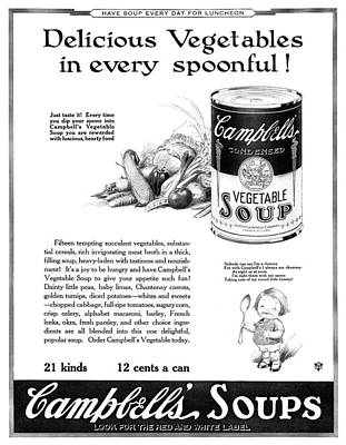 Ad Campbell's Soup, 1922 Poster by Granger