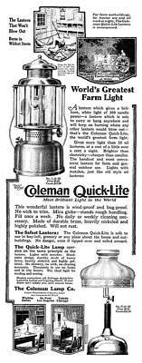 Ad Coleman Quick-lite Poster by Granger