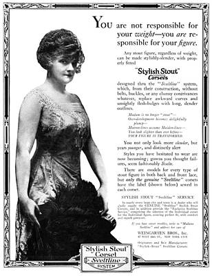 Ad Corset, 1919 Poster
