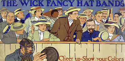 Ad Hat Bands, C1910 Poster by Granger