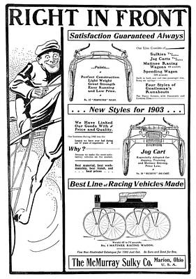 Ad Horse-racing Vehicles Poster