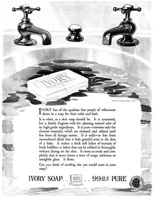 Ad Ivory Soap, 1919 Poster