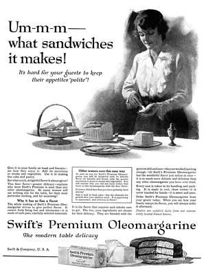 Ad Margarine, 1918 Poster