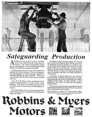 Ad Motor, 1918 Poster