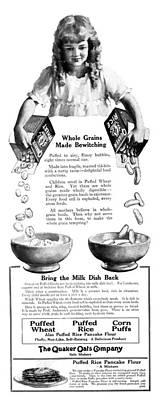 Ad Quaker Oats, 1919 Poster by Granger