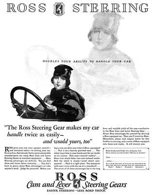 Ad Ross Steering, 1927 Poster
