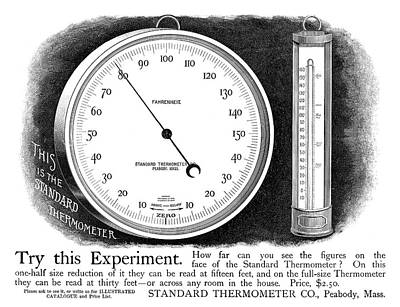 Ad Thermometer, 1890 Poster by Granger