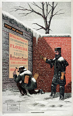 Ad Trains, 1879 Poster
