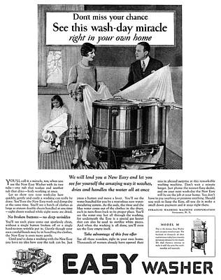 Ad Washing Machine, 1927 Poster by Granger