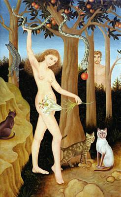 Adam & Eve, 1990 Poster by Patricia O'Brien