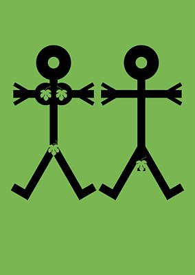 Adam And Eve Icon Poster
