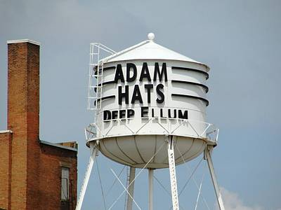 Poster featuring the photograph Adam Hats In Deep Ellum by Charlie and Norma Brock