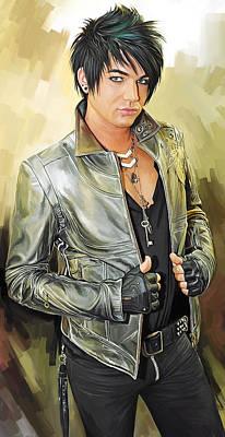 Adam Lambert Artwork 1 Poster by Sheraz A