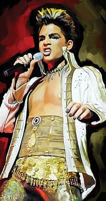 Adam Lambert Artwork 2 Poster by Sheraz A
