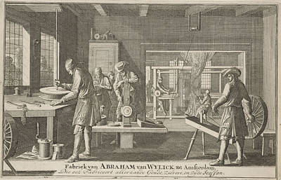 Address Card Of Abraham Van Wylick, Caspar Luyken Poster