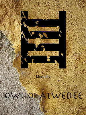 Adinkra  Owuo Atwedee Poster by Kandy Hurley