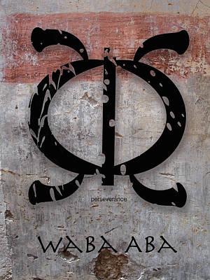 Adinkra Waba Aba Poster