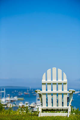 Adirondack Chair By The Sea Poster by Diane Diederich