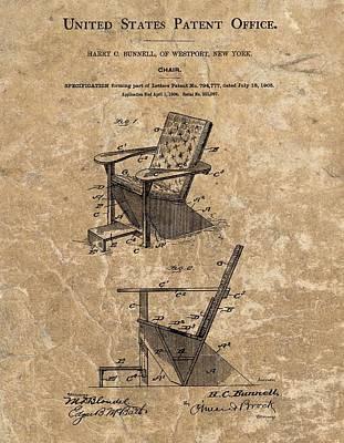 Adirondack Chair Patent Poster