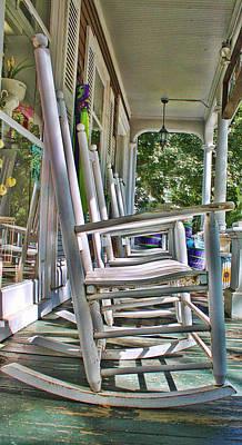 Adirondack Chairs At Skaneateles Ny Poster