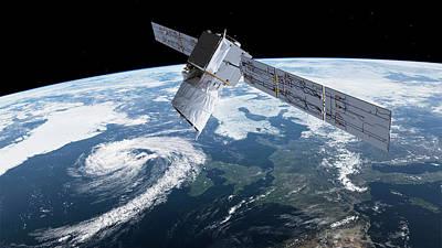 Adm-aeolus Satellite Poster by European Space Agency/atg Medialab