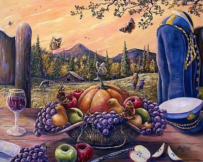 Admirals Harvest Poster by Gail Butler