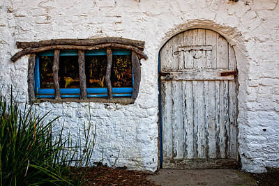 Adobe Door And Window Poster by Peter Tellone