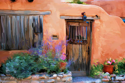 Adobe House Poster by Michael Rushing