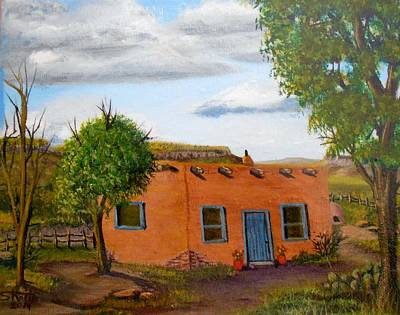 Adobe On The Prairie Poster by Sheri Keith