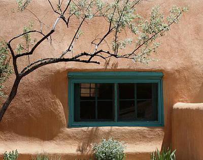 Adobe Window In Green Poster by Heidi Hermes