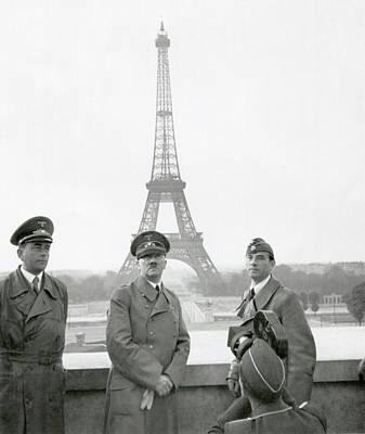 Adolf Hitler, Flanked By Albert Speer Poster
